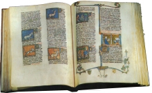 An illuminated text 